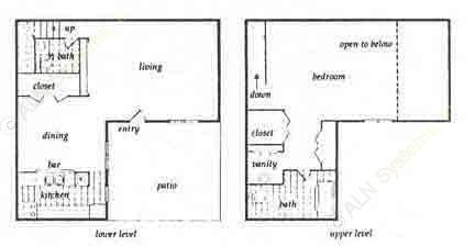 897 sq. ft. A2 floor plan