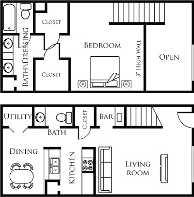 901 sq. ft. 11C floor plan