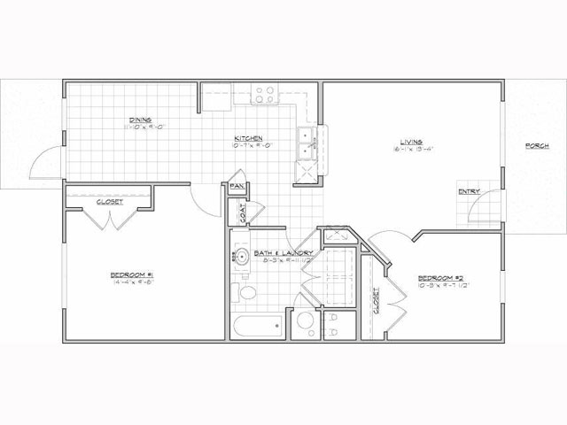 920 sq. ft. Alboran/60% floor plan