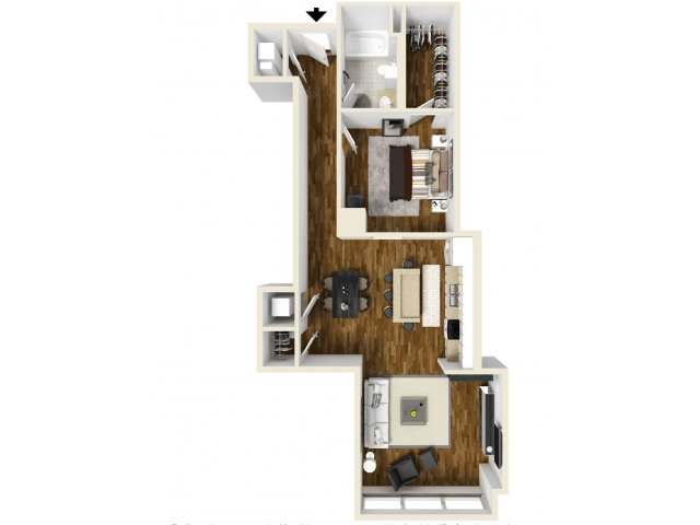 945 sq. ft. Rosewood floor plan