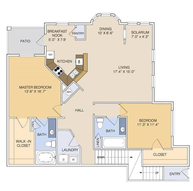 1,448 sq. ft. B2U/GAR floor plan