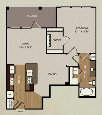 828 sq. ft. A4 floor plan