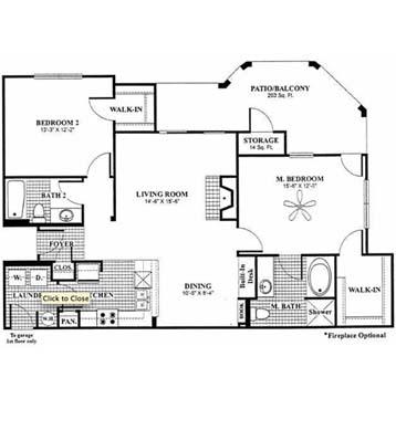 1,219 sq. ft. DeVicenzo - B6 floor plan