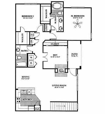 1,415 sq. ft. Hogan - B7 floor plan