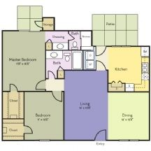 1,294 sq. ft. to 1,299 sq. ft. Lavender floor plan