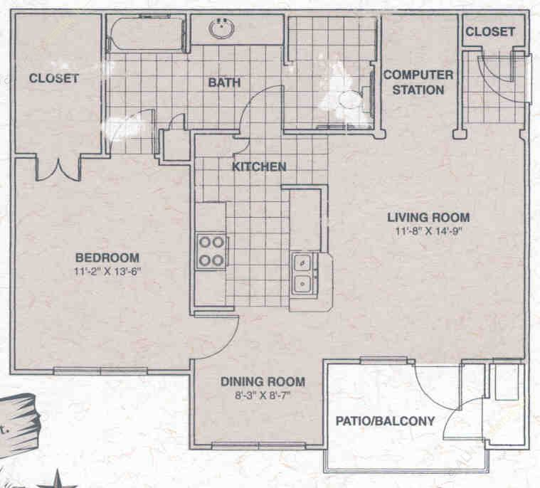 1,131 sq. ft. Texas Star floor plan