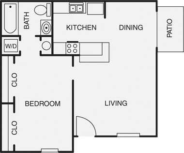 487 sq. ft. A floor plan