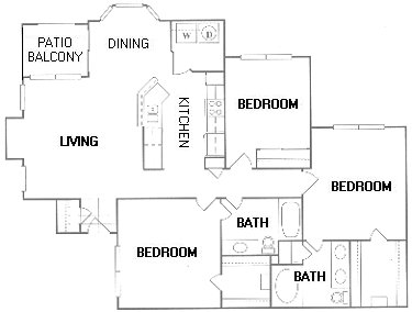 1,377 sq. ft. G floor plan