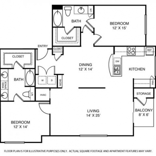 1,588 sq. ft. B5 floor plan