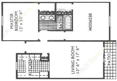 850 sq. ft. G floor plan