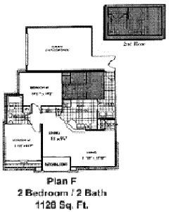 1,128 sq. ft. B3 floor plan