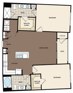 1,136 sq. ft. C1a floor plan