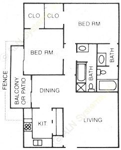 925 sq. ft. F floor plan
