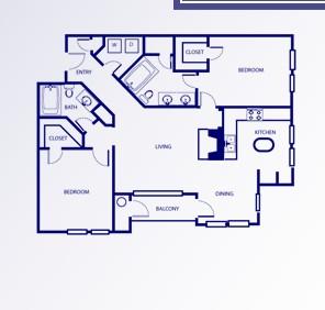 1,148 sq. ft. G/HOUGHTON floor plan