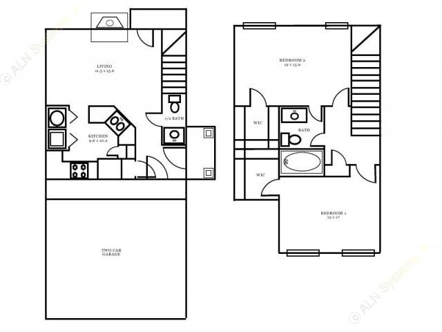 900 sq. ft. Buckingham floor plan