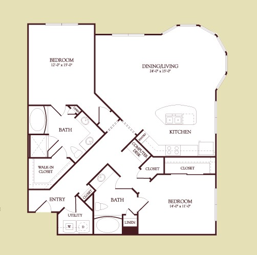 1,361 sq. ft. Picasso floor plan