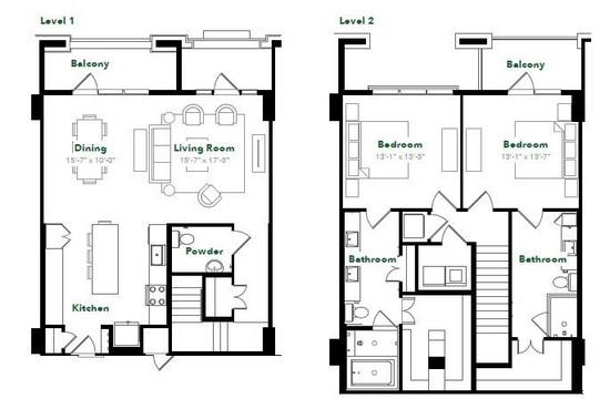 1,827 sq. ft. TH28.1 floor plan