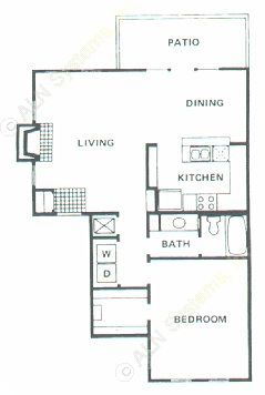 851 sq. ft. A4 floor plan