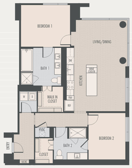 1,477 sq. ft. B2 floor plan