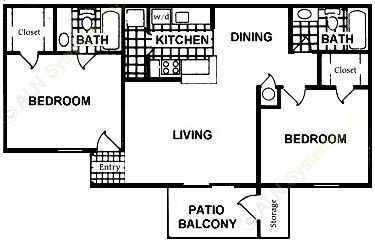 861 sq. ft. B7 floor plan