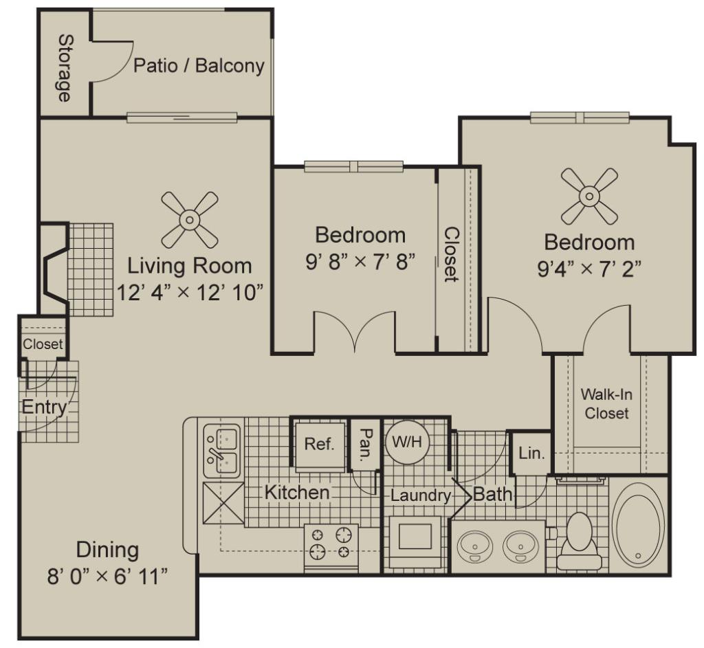 996 sq. ft. A4.1 floor plan