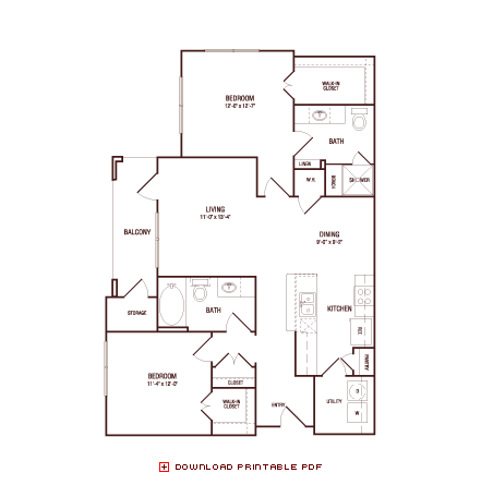 1,057 sq. ft. Live Oak floor plan