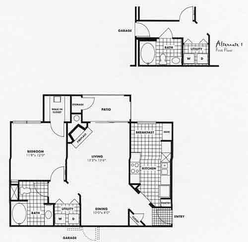 807 sq. ft. A5G floor plan