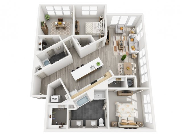 1,502 sq. ft. C1 floor plan