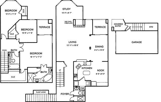 1,979 sq. ft. floor plan