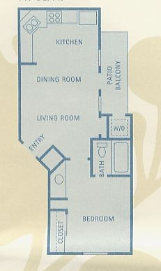 447 sq. ft. Ara floor plan