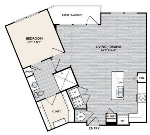 978 sq. ft. A11 floor plan