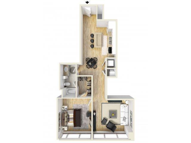 976 sq. ft. Elm floor plan