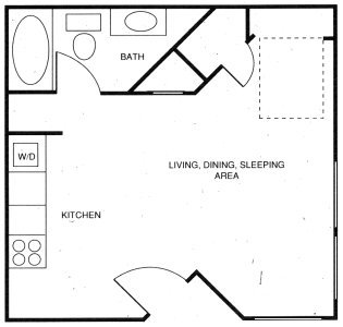 375 sq. ft. A floor plan