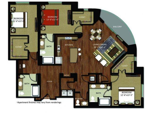 2,037 sq. ft. C1 floor plan