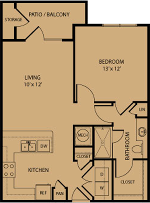 719 sq. ft. Kerrville floor plan