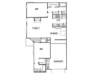 1,025 sq. ft. NEW PATIO floor plan