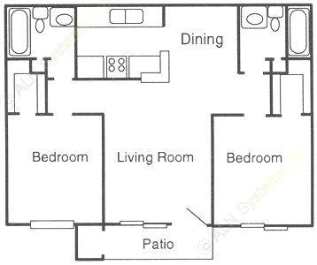 912 sq. ft. C floor plan