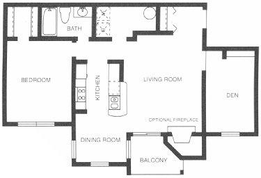 798 sq. ft. Lippizaner floor plan
