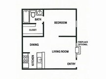 504 sq. ft. E2 floor plan