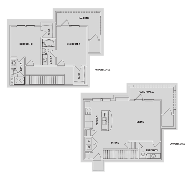 1,339 sq. ft. BB3-TH floor plan