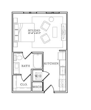 468 sq. ft. floor plan