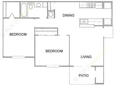 794 sq. ft. floor plan