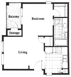 508 sq. ft. floor plan