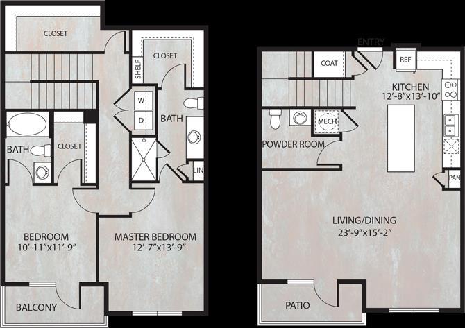 1,568 sq. ft. TH3.1 floor plan