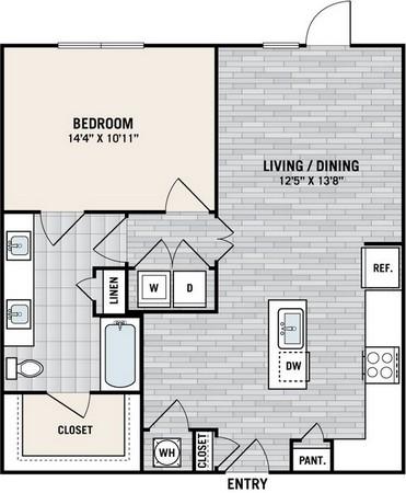 826 sq. ft. A4C floor plan