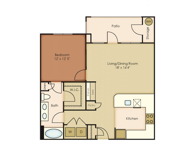829 sq. ft. A4 floor plan