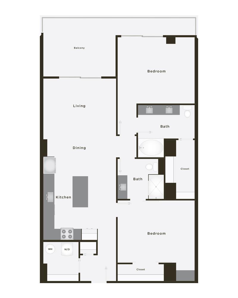 1,184 sq. ft. Champion floor plan