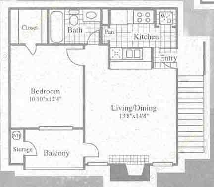 545 sq. ft. II floor plan