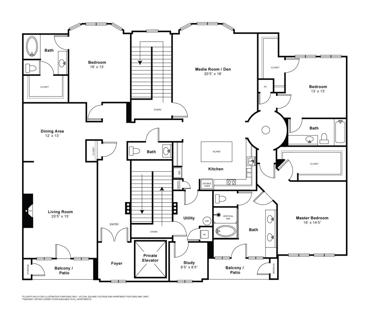 3,102 sq. ft. Parisian floor plan