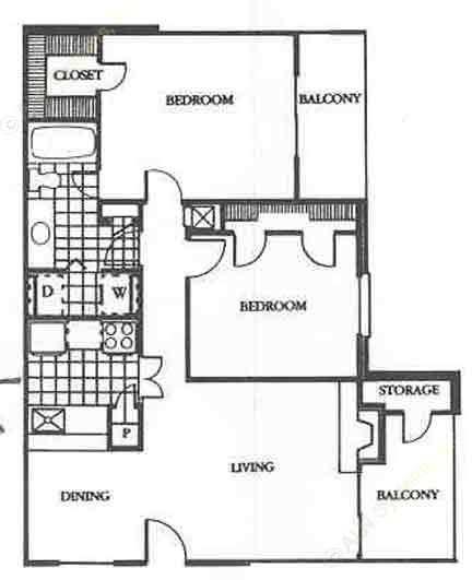 902 sq. ft. Legend floor plan
